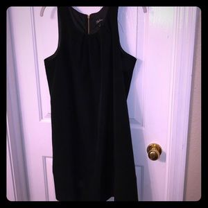 LIttle black dress and a gold zipper!